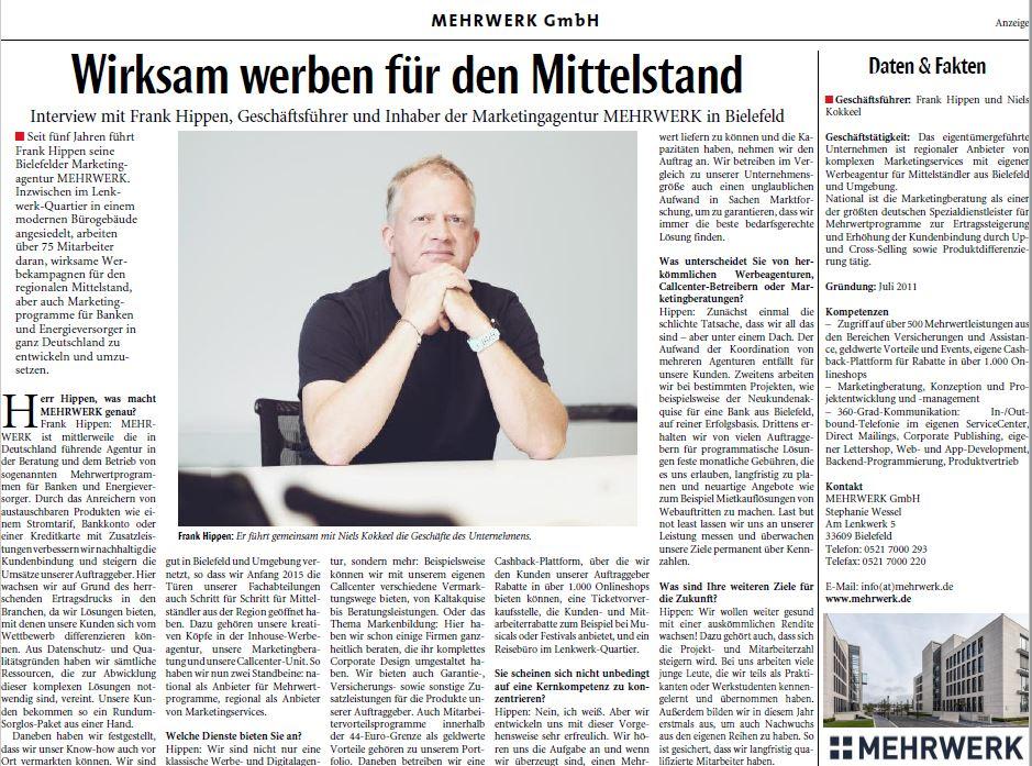 Geschäftsführer und Inhaber Frank Hippen über die MEHRWERK GmbH